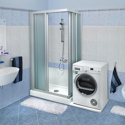 Trasformazione vasca in doccia Standard con vano lavatrice