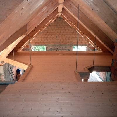 soppalco e copertura in legno