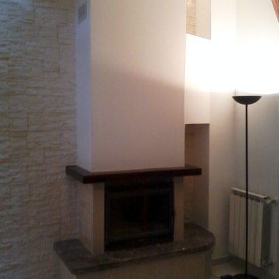 Rivestimento Camino In Cartongesso Antiincendio Pictures to pin on Pinterest