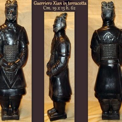 STATUA ORIENTALE Guerriero Xian