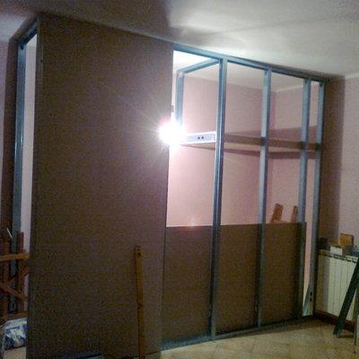 struttura di una parete armadio