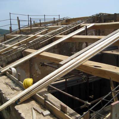 struttura per tetto spiovente