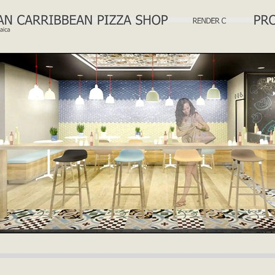 carribbean pizza shop kingston jamaica
