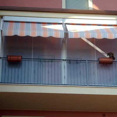 Tenda a veranda doppio rullo