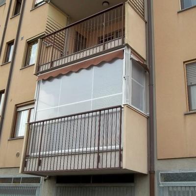 Tende veranda antivento per balconi particolari http://www.mftendedasoletorino.it