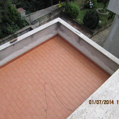 terrazzo e soglie parapetto primo piano dopo