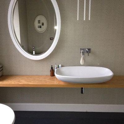 Bagno, parete tessile