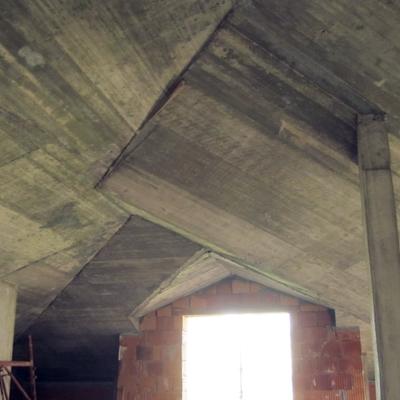 tetto in calcestruzzo