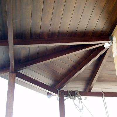 tettoia in alluminio - particolare
