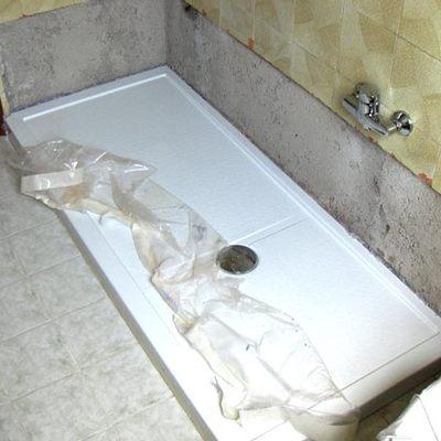 rimozione vasca installazione doccia step 2