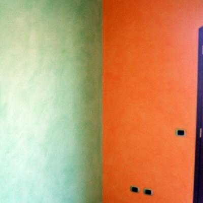 Velatura in due colori.