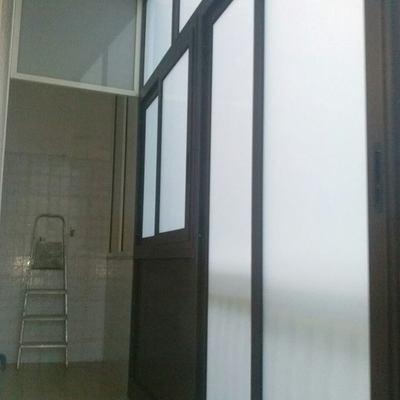 Veranda in alluminio compresa di vetro camera 6/7 bianco latte