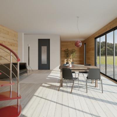 residenziale interno - vetrata