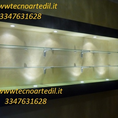 Vetrina in cartongesso Milano
