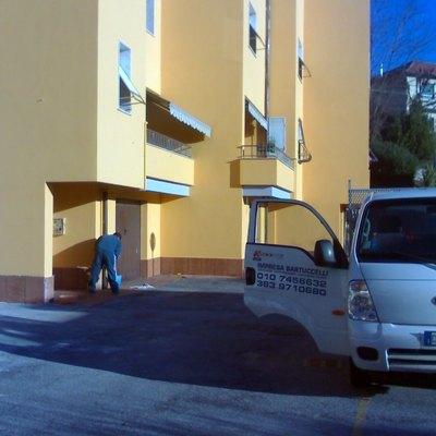 Via Morego, Genova (GE) - rivestimento a cappotto ciclo CAPAROLO