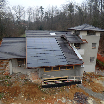 Villa in costruzione con Impianto Sunpower Innovativo