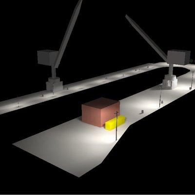 Simulazione illuminazione per esterni