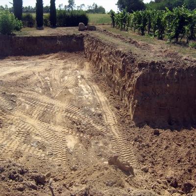 Vista dello scavo