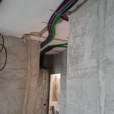 Impianto elettrico con posa a soffitto