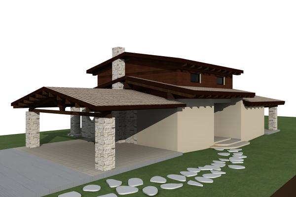 Progettazione Casa In Legno : Foto progetto casa in legno di niko costruzioni in legno srls