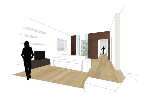Foto interior design zona living appartamento rignano - Federica naj oleari interior designer ...