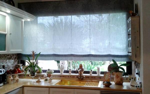 Tende A Pacchetto Silent Gliss.Foto Tenda A Pacchetto Con Tessuto In Lino Installata Su Binario