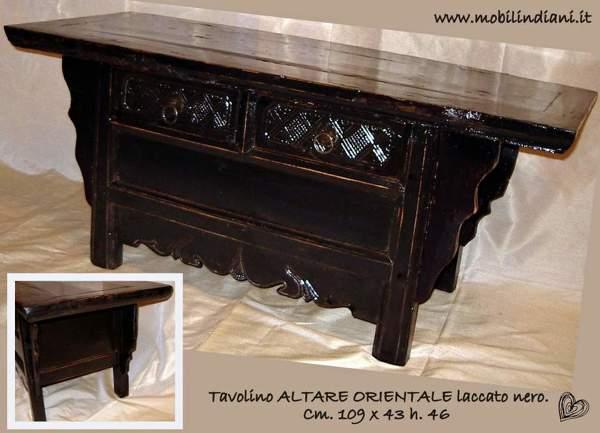 Mobili Cinesi Laccati Neri : Foto: altare cinese laccato nero di mobili etnici #113654 habitissimo