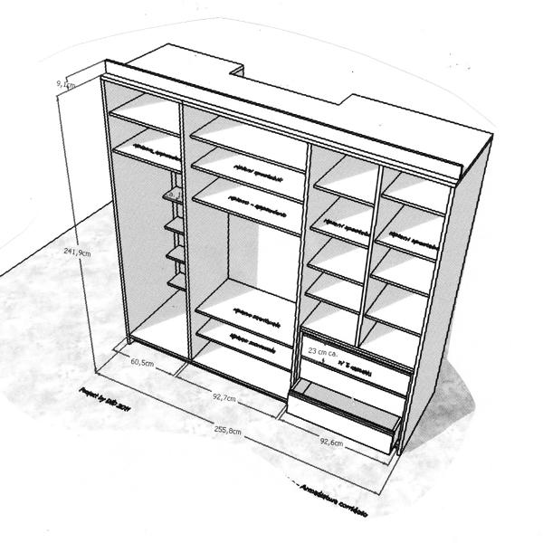 Foto armadio a muro di arch defilla daniela 107454 habitissimo - Progetti cabine armadio ...