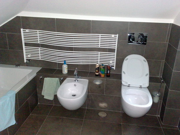 Foto bagno rivest gres porcellanato di impresa edile geom