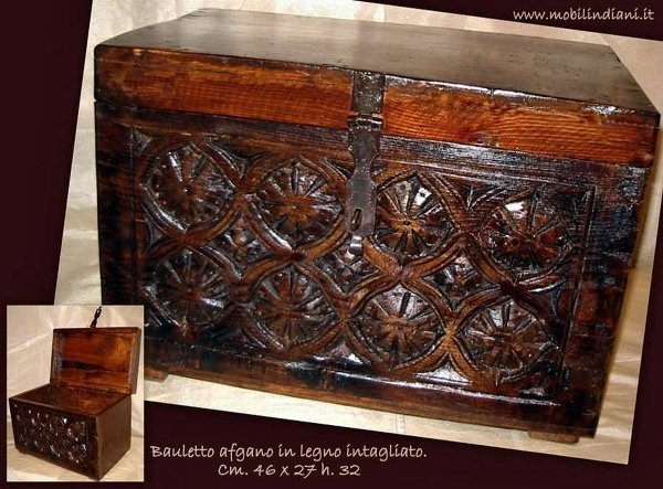 Foto baule etnico legno intagliato di mobili etnici for Arredamento etnico cagliari