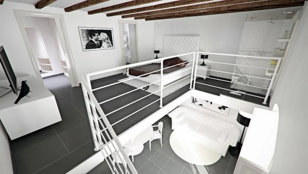 Foto camera da letto soppalcata vista 2 di fast design - Camera da letto a soppalco ...