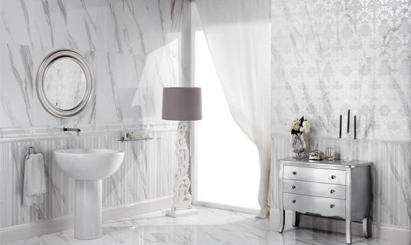 Foto collezione per rivestimenti bagni effetto marmo selection di ceramiche supergres 49318 for Foto rivestimenti bagno