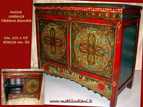 Credenza Con Vetrina Etnica : Foto credenza tibetana di mobili etnici habitissimo