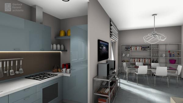Foto: Cucina Aperta sul Soggiorno di Gianluca Ferranti Architetto #267965 - H...