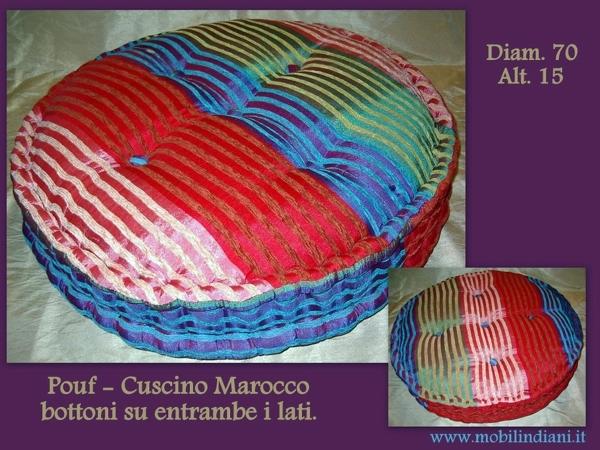 Foto cuscino pouf etnico di mobili etnici 113707 for Arredamento etnico bari