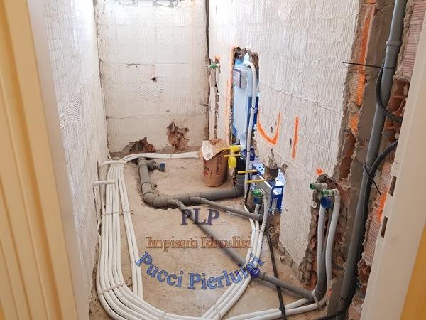 Foto: completamento impianto idrico sanitario bagno di plp di pucci