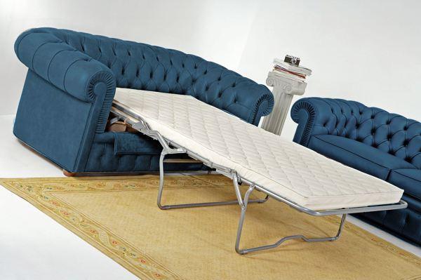 Foto divano chester con letto ortopedico di santambrogio for Divano letto materasso ortopedico