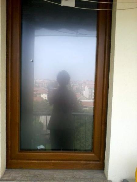 foto finestra in pvc con vetro satinato di an d al