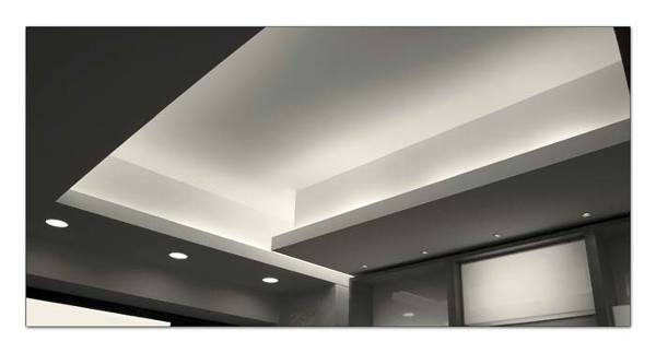 Foto giochi di luce soffitto in cartongesso di trevi for Led controsoffitto