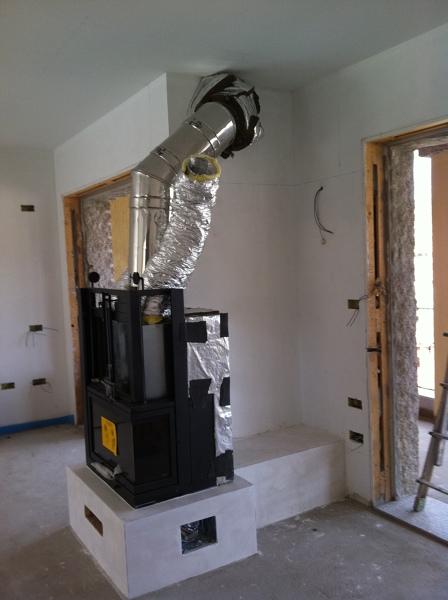 Idee Arredamento Sala Da Pranzo : Foto rivestimento termocamino in cartongesso di colore