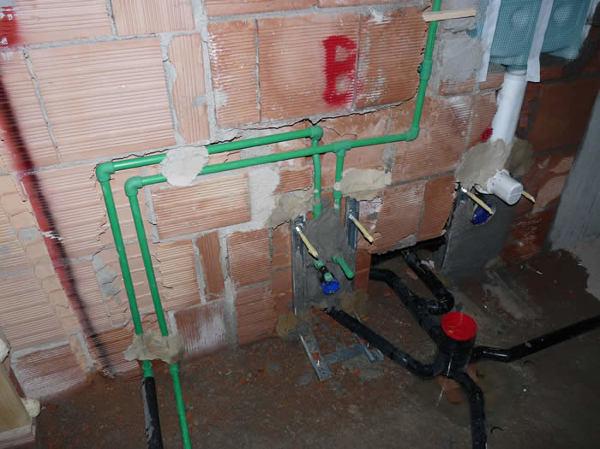 Foto impianto idraulico bagno di valentino edili