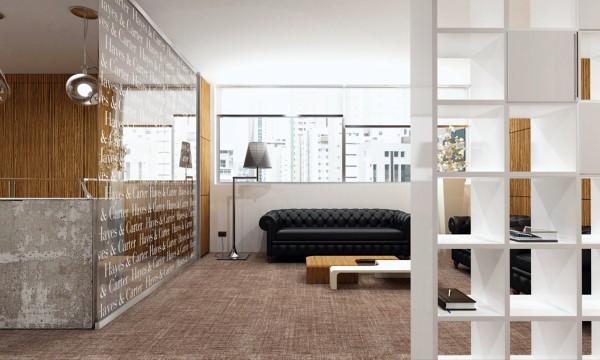 Foto ingresso ufficio legale di pareti divisorie for Mobili studio moderno