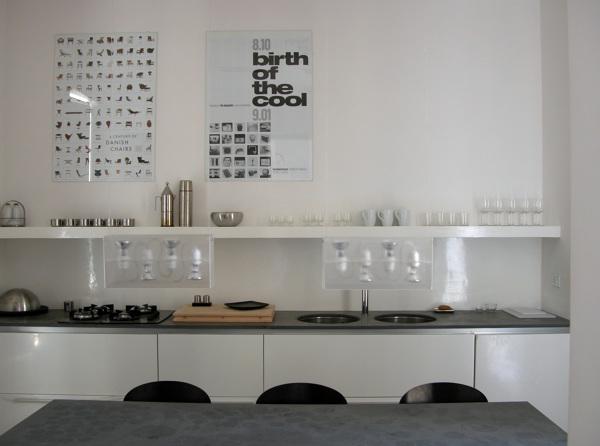 Foto interno cucina loft al centro storico in roma for Progetti di loft di stoccaggio garage