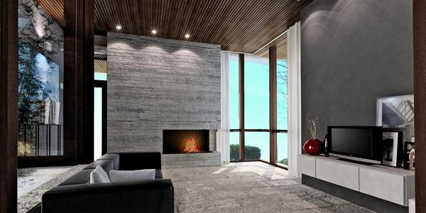 Foto interno di villa di studio di architettura for Interno ville foto