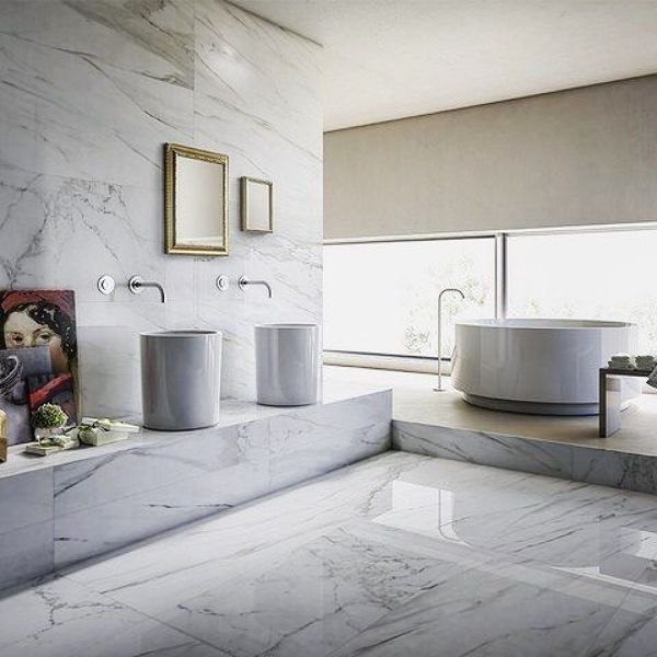 Bagni Moderni In Marmo.Foto Effetto Marmo Per Il Tuo Bagno Di Gulliver Ceramiche Srl