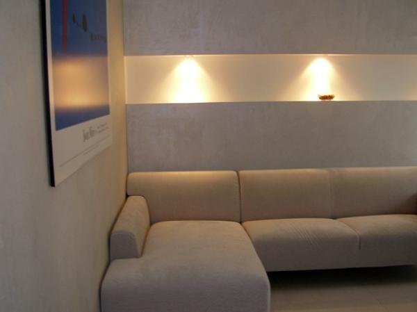 Foto: lavorazione cartongesso con illuminazione da incasso di la