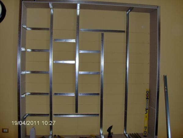 Foto libbreria a muro di cartondecor 49457 habitissimo for Librerie divisorie economiche