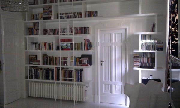 Foto: Libreria In Lacca Lucida con Scala di Stillegno Falegnameria ...