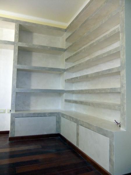 Foto libreria porta cd angolare in cartongesso con sportelli in legno di nova fatm srl 103234 - Sportelli legno fai da te ...