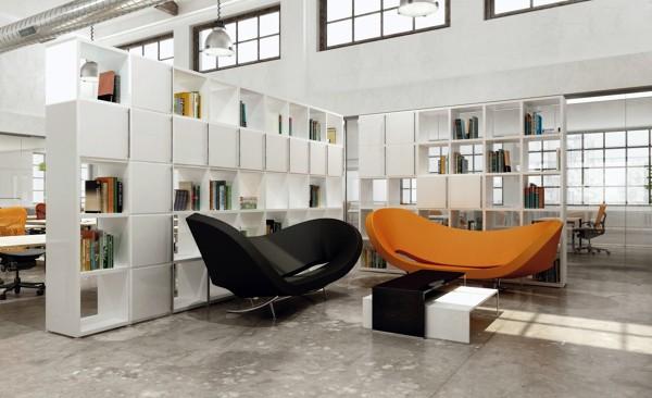 Parete Divisoria Libreria : Foto libreria quadro di pareti divisorie elleduemila